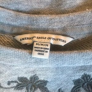 American Eagle Outfitters Sweaters - Grey American Eagle Floral Embodied Sweater